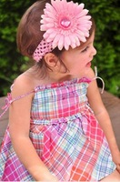 fashion baby hair accessories with headband and hair flower