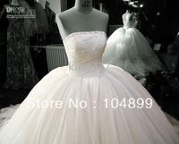 Hot Sale New White Ivory Satin&voile  *Wedding Bridesmaid/Prom Dress/Gown custom size 2.4.6.8.10.12.143.16.18.20