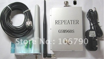 Suggest 50-150 square meters GSM  900MHz Cell phone signal booster repeater amplifier annex 10m cable+2 Ant.