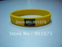 DHL Free Shipping- Customized silicone flag printing logo bracelet; silicone wristband; promotional gifts