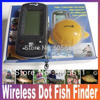 Wireless Portable TL66 LCD 3 inch display Dot Matrix Sonar Radio River Lake Sea Bed 40M Fishfinder Fish Finder Free Shipping