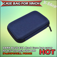 Free Shipping DARK BLUE GPS carry case bag for 4.3' 4.8'or 5 Inch GPS