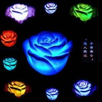 Hot Sale Creative Products romantic Rose Lighting/ rose heart-shaped night light, colorful gradient