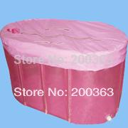 Portable plastic bathtub for adults