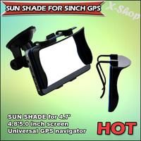 Free Shipping SUN SHADE for 4.7'4.8'5.0inch screen Universal GPS navigator