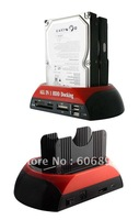 """Free shipping wholesale best quality, HDD Docking Station,3.5""""/2.5""""SATA,SD/HUB, with Cloning function"""