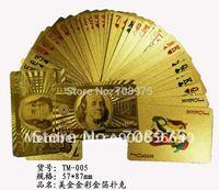 Gold playing cards-100 US DollarFOB Price: US $5 - 10 / SetPort: Ningbo, shanghai Minimum Order Quantity: 500 Set/Sets non Supp