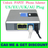 Guarantee100% Unlocked  PAP2T-NA VOIP Gateways phone adapter