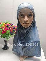 MS12030812 free shipping 2012 lastest style hot sale high quality 2-pcs set gradient muslim higabs,muslim hijab,islamic hijab