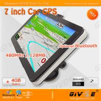 800x480 HD Touch 7 inch Car GPS with MediaTek MT3351 480MHz CPU + 128MB RAM + 4GB Nand Flash + Windows CE 6.0 OS #2042