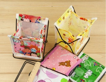 Freeshipping/Lovely Children Storage Bag Desktop Storage Box Sundries Box/ Folding Storage Frame A0071