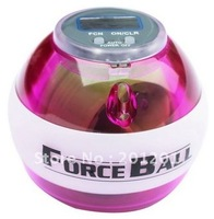 2014 Hot ! Free shipping+ power seller,1pcs gyro ball,body building fitness equipment Force Ball with Led & Counter