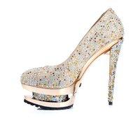 2012 New Brand shoes Sexy High heels waterproof women shoes women pumps Size 35-42
