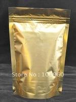 Wholesale Gold Stand Up Metallic Ziplock Bag 8*13cm ZLB735 (Free Shipping)