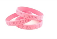 Custom Debossed Silicone Wristbands Silicone Bracelet 500pcs/lot