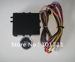 2012 wholesale, free shipping ! convenient car engine button switch kit,keyless start/off the engine, attach alarm system(China (Mainland))