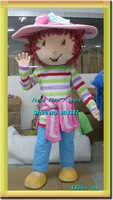 Newest Version Strawberry Shortcake Costume  Costume Character Cartoon Girls Strawberry Costume Free Shipping