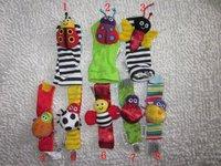 60pcs/lot- CARTOON Character Garden Bug Wrist Rattle/Foot Finder Set/Baby Socks/Infant&Toddler Socks