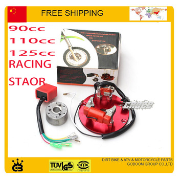 high performance Racing HP Magneto Coil stator  50cc 90cc 110cc 125cc Dirt Pit Bike ATV horizontal engines Thumpstar Parts