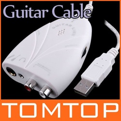 Mini USB Interface Audio Guitar Link Cable to PC MAC I23 Free shipping Wholesale(China (Mainland))