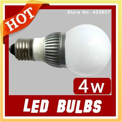Wholesale led bulb High Power Aluminum 4W E27 WHITE LED Light Lamp,Free sample wholesale