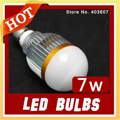 Wholesale LED Bulb High Power Aluminum 7W WHITE E27 LED Light Lamp,Free sample wholesale