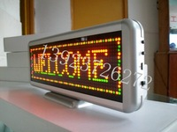 Red Color Programmable LED Message Sign Scroll Moving Display 16x64 dot led desk board