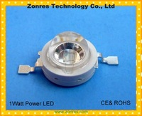 Free Shipping 1watt Blue High Power LED Lamp 15-25lm with CE&ROCHS
