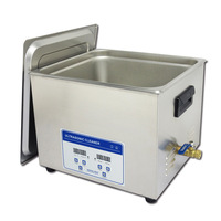 Free shipping! Top quality AC110V/220V automatic digital ultrasonic benchtop cleaners 15L