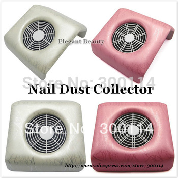 wholesale excellent Electric Nail Art Dust Suction Collector Vacuum Cleaner with Hand Rest Design 16pcs/lot free EMS/DHL shiping