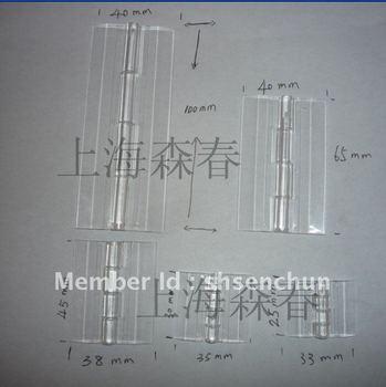transparent acrylic/plexiglass hinge