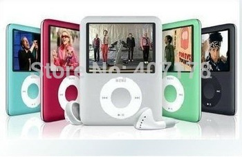 "100% NEW STYLE 8GB 1.8"" 3TH FM MP4 PLAYERS+Free shipping"