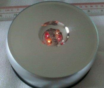 rotating LED display base Crystal Rotating 7 LED Light Jewelry /Display Base Stand Rotating  LED Light Display Base