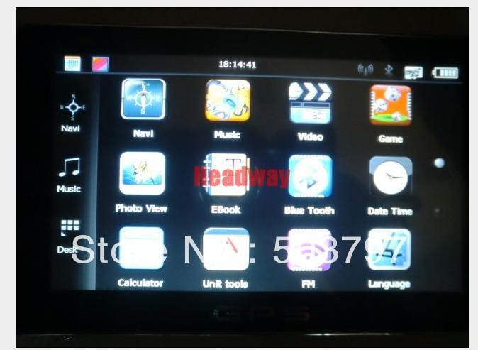 "Free shipping Hot sale! 7"" GPS Bluetooth+AV+FM ,DDR 128MB ,MTK solution, CE 5.0(China (Mainland))"