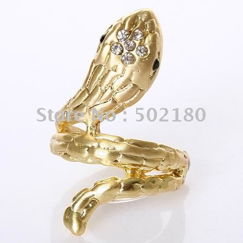 Metal Craft Charming Snake Ring Free Shipping XL008(China (Mainland))