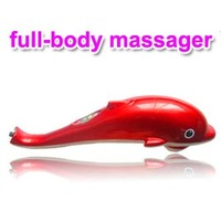 New Design Full Body Close Infrared Massager Dolphin Shape Hand Held with 3 INTERCHANGEABLE Heads Health Care SMTB0081