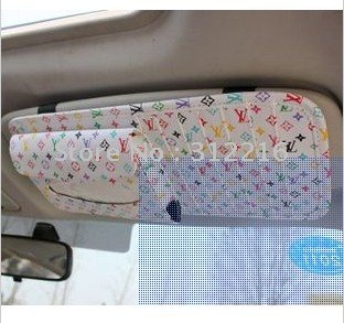 free shipping CD car visor clip car Sun Visor Tissue Box / Tissue Box set combo CD folder(China (Mainland))