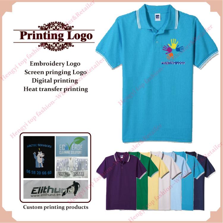 Votre logo personnalisé imprimé vêtements personnalisés designs logo emboridery d'impression par transfert thermique 100% chemises en coton pour hommes xxxl 240g coton