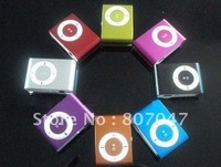 Free shipping Clip Mini MP3 Player support Up To TF Card with ip-earphonne