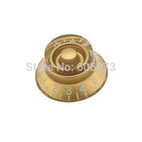 3 pieces guitar speed volume & tone control knobs - golden