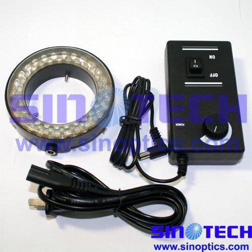 Free shipping 54 bulbs circle ring light LED microscope light SS-HG-05 with dimimer(China (Mainland))