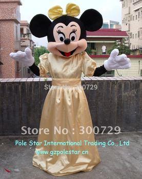 gold dress minnie mascot costume polyfoam head and helmet