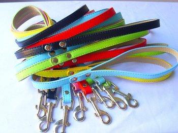 Big price cuts Candycolour dog puppy pet leash lead pu S M L 6colours