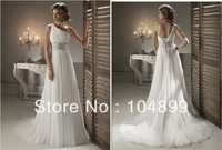 2013 one shoulder beautiful elegant Dress sexy wedding dress Bridal Gown Wedding Dress
