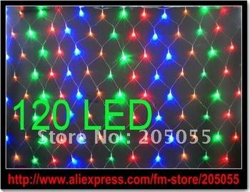 120 LEDs Net Fairy Lights Xmas/Chirstmas string light Wedding party Mesh Nightlight Festival Decoration ornament