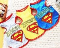 wholesale dog Superman vest free shipping