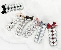 Free Shipping!! Double Row Sparking Crystal Hairclip, Fashion Butterfly Hairclip 50pcs/lot+Mix Colours