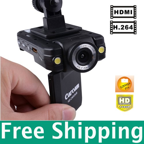Free Shippin 2.0inch TFT LCD hd1080p vehicle mounted dvr camera Night Vision Function Mini DV(RA-K2000)(China (Mainland))