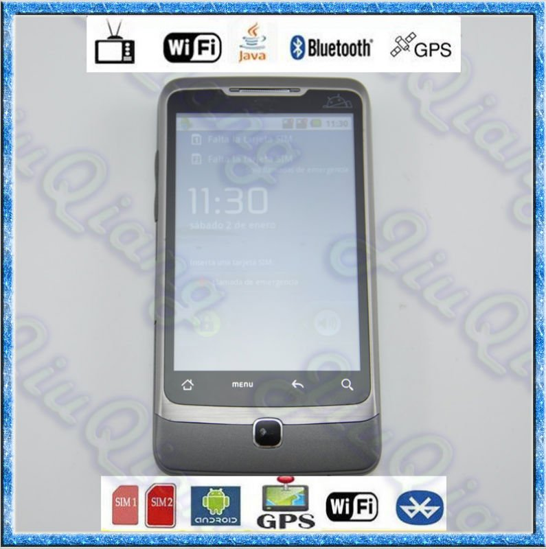 Good Recommend Andriod 2.2 Mobile Phone A5000 With Wifi TV GPS MSN Capacitive Touch Screen Smart Mobile Phone Free Shipping(China (Mainland))