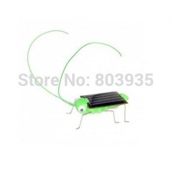 Free Shipping! 5 psc/lot Solar locusts, solar cricket, solar grasshopper,  For kids solar toy, solar powered 100% Green gift